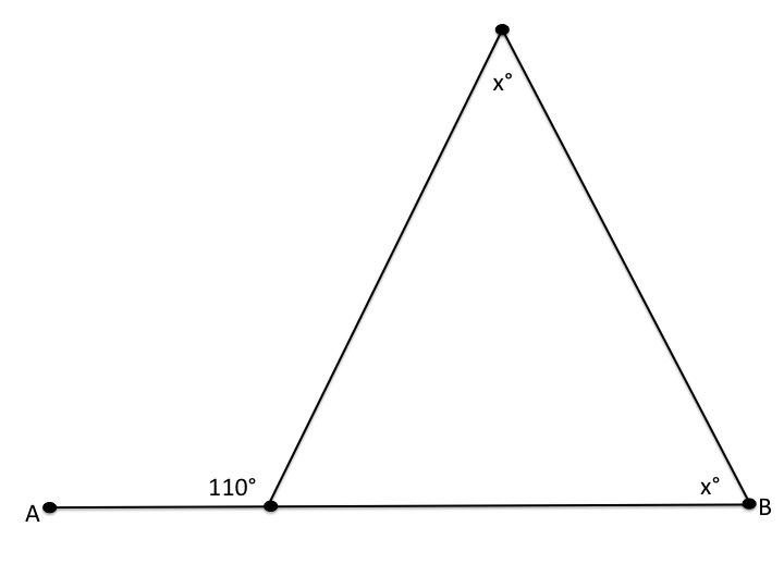 How to find an angle in an acute / obtuse triangle - PSAT Math