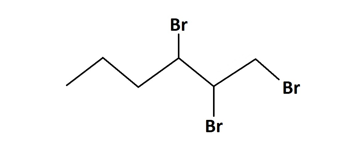 1 2 3 tribromo hexane