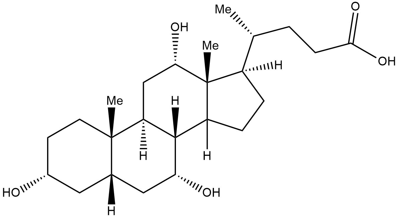 Cholic acid 3d