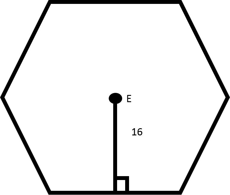 How to find the length of the side of a hexagon