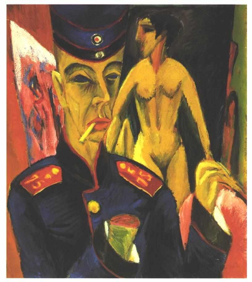 Kirchner   selbstbildnis als soldat