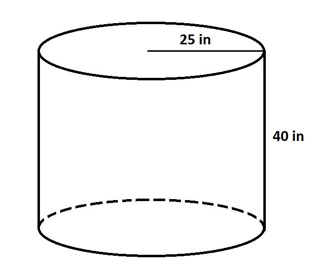 the above diagram is one of a cylindrical tub  the company wants to make a  cylindrical tub with three times the volume, but whose base is only twice  the
