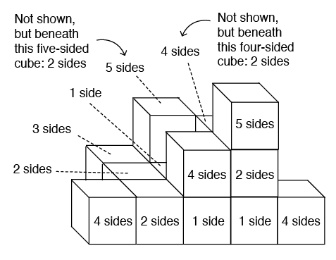 Cube-Counting Questions - DAT Perceptual Ability