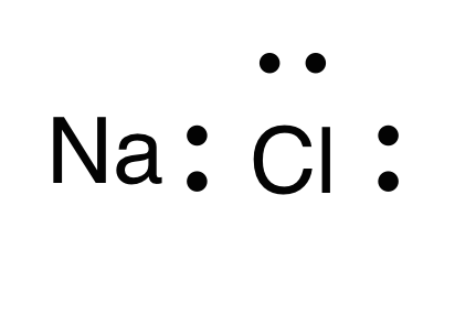 lewis dot structure of sodium chloride? 2
