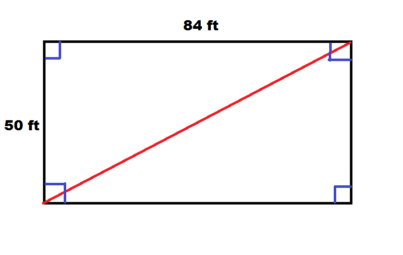 How To Find The Length Of The Diagonal Of A Rectangle Basic Geometry
